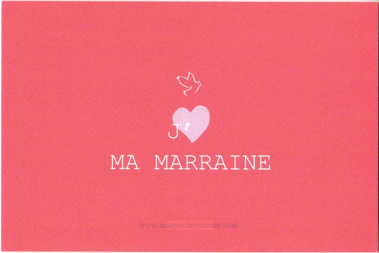 carte atelier d'avril, j'aime ma marraine