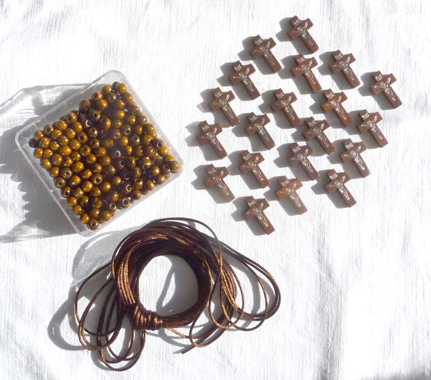 Ic 060 Kit 20 dizainiers perles bois venies marron