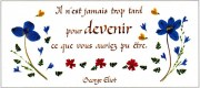 carte florale d'encouragement