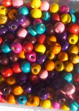 perles vernies multicolores