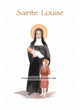 Carte saint patron illustration sainte Louise