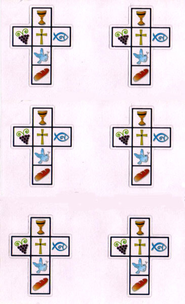 Jl 188 Stickers communion croix